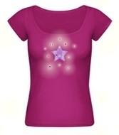 "Kristall-Shirt ""Cristal-Star"", fuchsia"