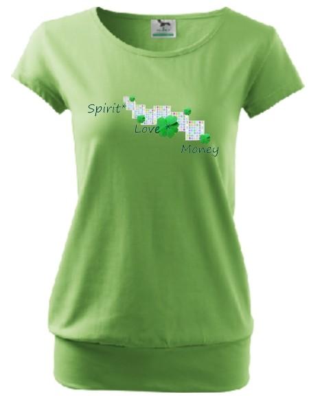 """City-Shirt """"Spirit, Love, Money"""", grün"""