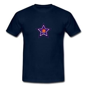 """T-Shirt - """"Lichtvolle Blaupause"""", dunkelblau"""
