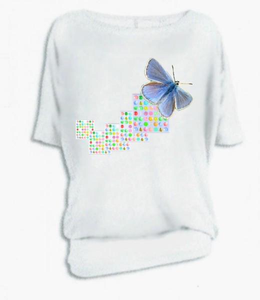 "Oversize-Shirt ""Schmetterling"""