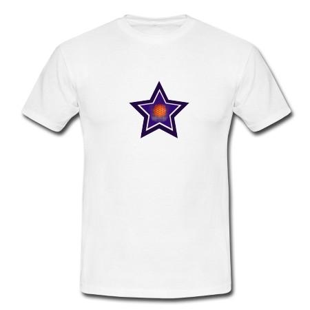 """T-Shirt - """"Lichtvolle Blaupause"""", weiß"""