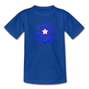 """Bio-Shirt """"Kraftvolle Aura"""", blau"""