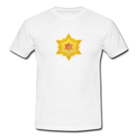 """T-Shirt - """"Göttliches Lichtbewusstsein"""", weiß"""