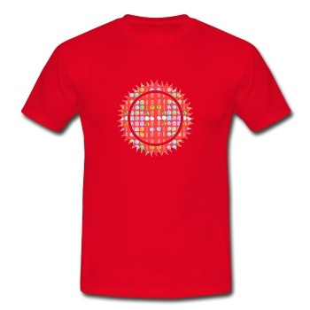 """T-Shirt - """"Kraft & Macht"""", rot"""