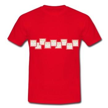 """T-Shirt - """"Finanzielle Fülle"""", rot"""