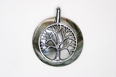 """Anhänger """"Baum des Lebens"""" mit Perlmuttscheibe"""