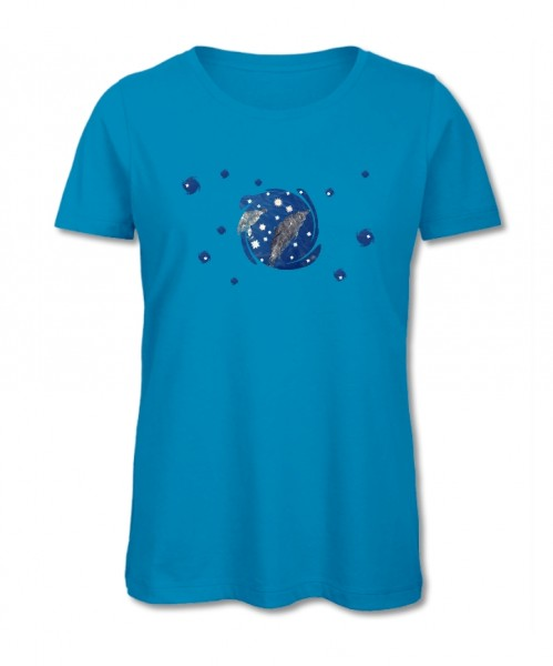 "Bio-Shirt ""be free"" aqua"