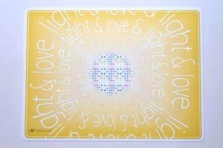 """Tisch-Sets """"love & light"""" (4er Packung)"""