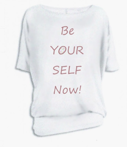 "Oversize ""be yourself now!"""
