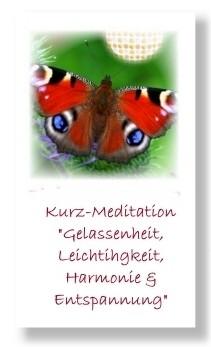 Gelassenheit & Harmonie (Geführte Kurz-Meditation)