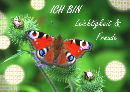 """Postkarte """"Ich bin Leichtigkeit & Freude"""""""