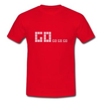 "T-Shirt ""Go"", rot"