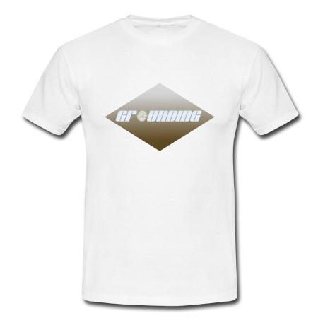 """T-Shirt - """"Erdung"""" weiß"""