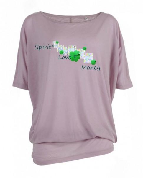 "Oversize ""Spirit, Love, Money"", altrosa"