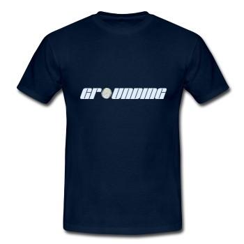 """T-Shirt - """"Erdung"""" dunkelblau"""
