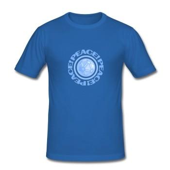 """T-Shirt - """"Frieden"""" - blau"""