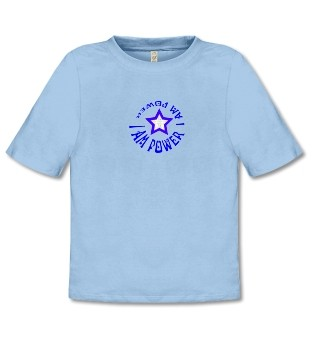 """Bio-Shirt """"Kraftvolle Aura"""", hellblau"""