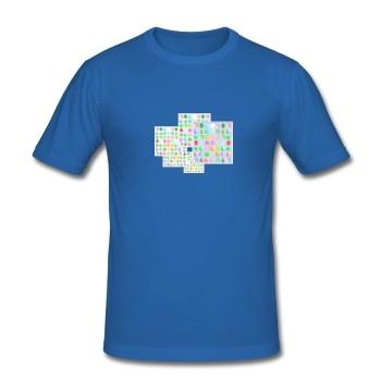 """T-Shirt - """"Lebensaufgabe"""", blau"""