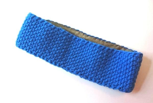 """Stirnband """"uni"""" blau"""