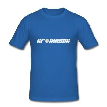 "T-Shirt - ""Erdung"", blau"